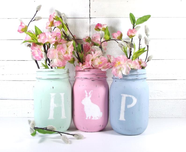 HOP Easter Decor Spring Decor Cottage Chic Decor Cute Home