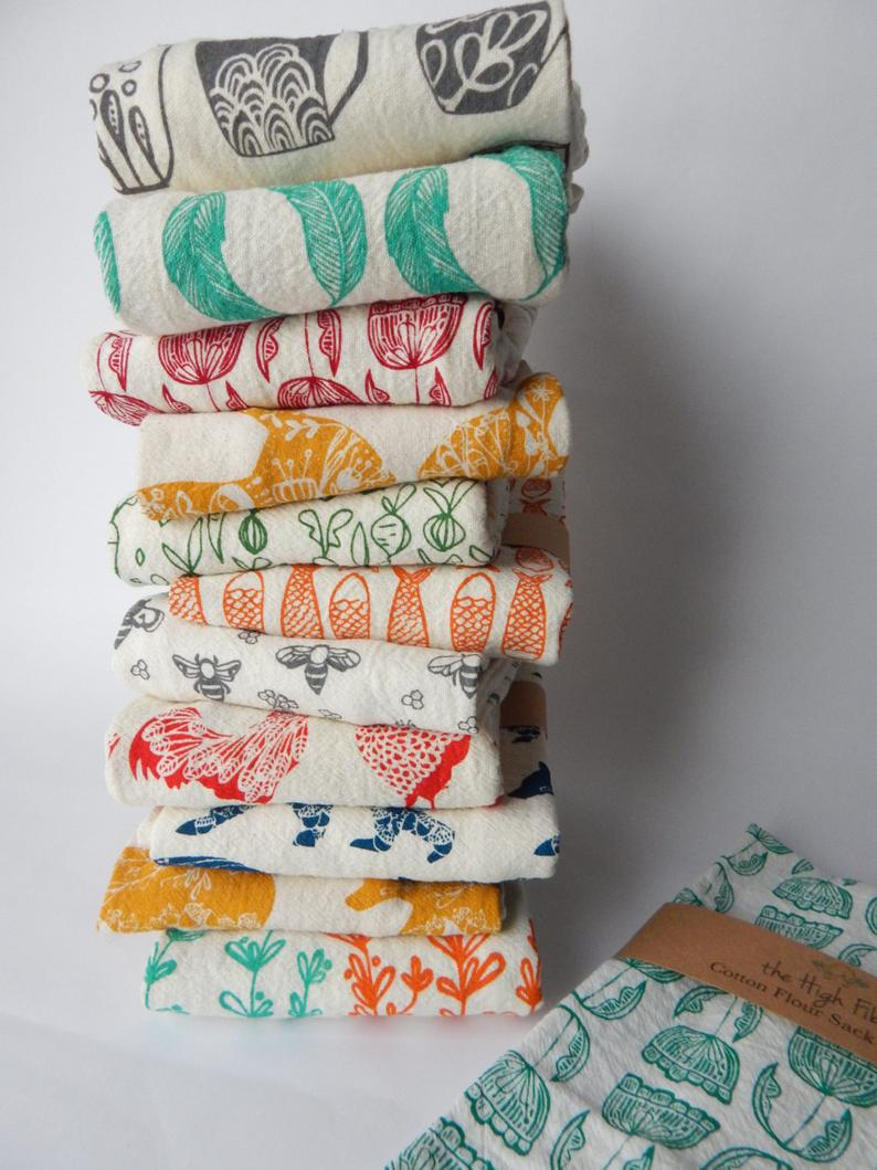 Handmade Kitchen Towels Hand Printed Kitchen Towels Towel
