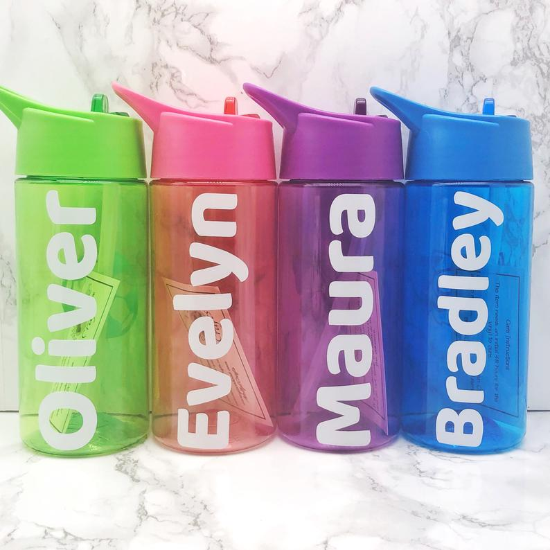 Kids Back To School Personalised Water Bottle 400ml