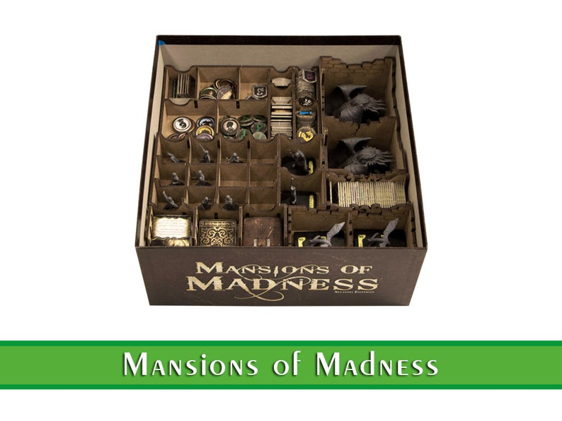 Mansion of Madness organizer  Wood insert for Mansion of