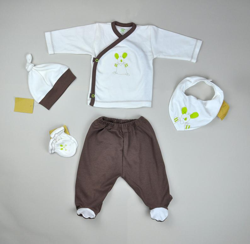 Newborn Set Baby Set Organic Baby Clothes Baby Take Home