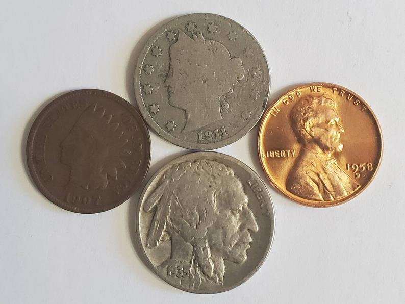 Old Coin Collection / Indian Head Cent / Uncirculated Wheat