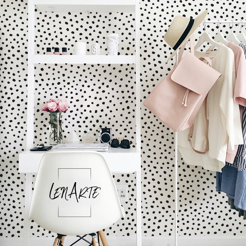 Paint Dot Wallpaper  Dots Pattern  Modern Pattern  Wall