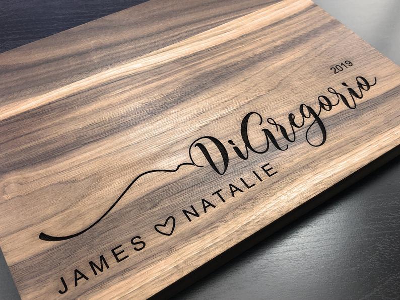 Personalized Cutting Board Cutting Board Wedding Gift