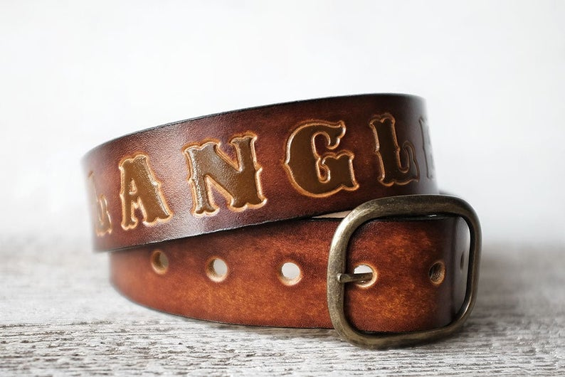 Personalized Leather Belt Gifts for Men Leather Belt