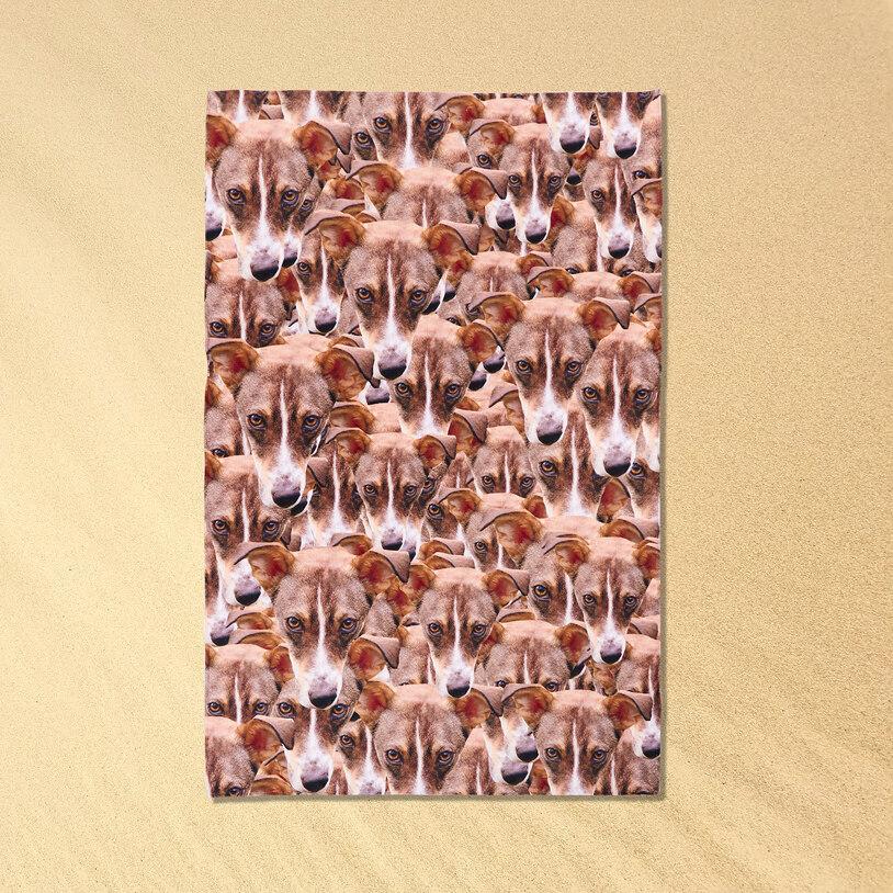 Pet Beach Face – Personalised Pet Towel