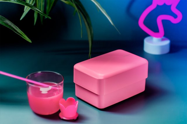 Rectangle Bento Box in Power Pink