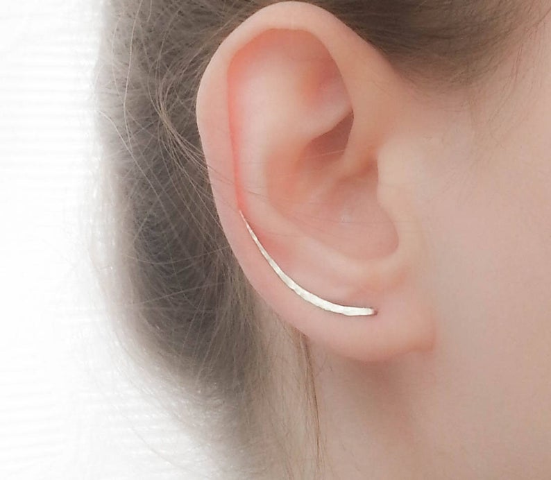 SALE  Sterling Silver Ear Climber Earrings  Ear Climbers
