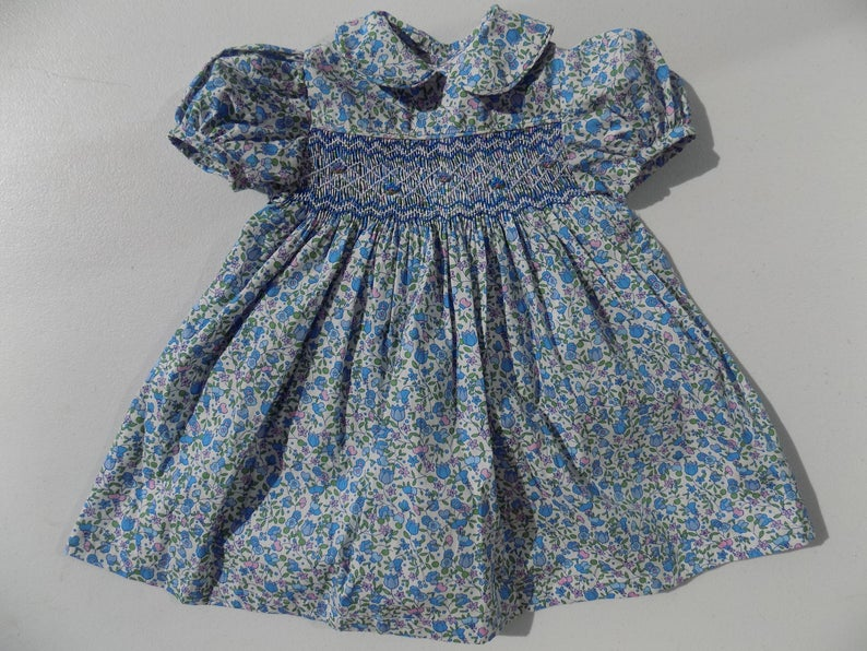 Smocked dress baby girlbaby smock dressflower dress baby