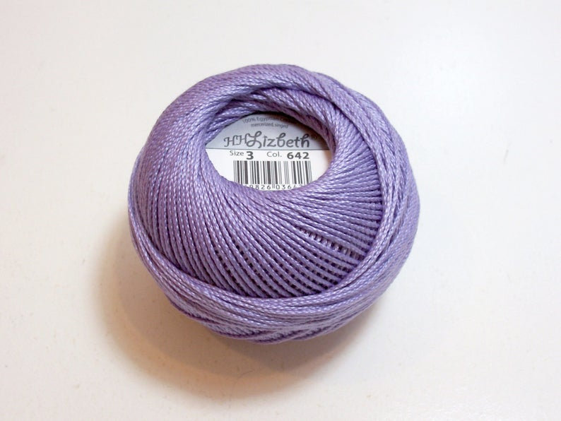 Tatting Thread Lizbeth Cotton Crochet Thread Medium Lilac
