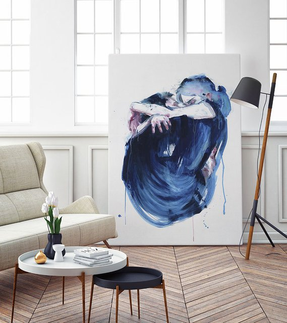 The Noise of the Sea, Giant Canvas Print by Agnes Cecile