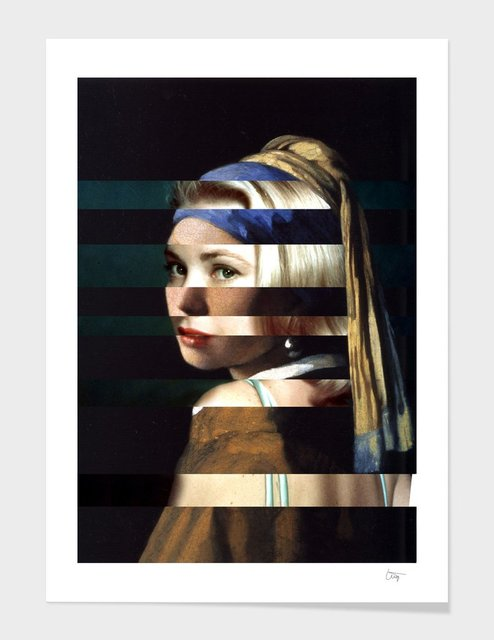 Vermeer's Girl with a Pearl Earring & Grace Kelly by Luigi Tarini