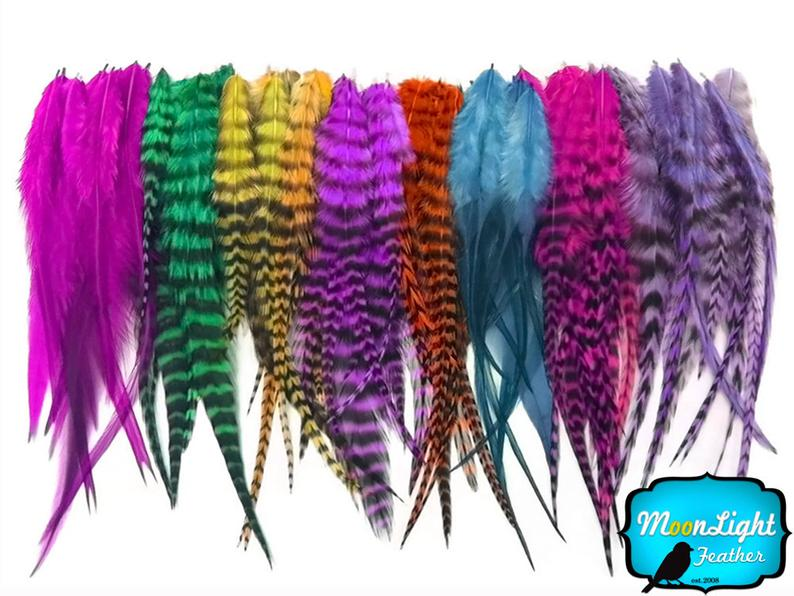 Wholesale Feathers 100 Pieces  Colorful Short Rooster Hair