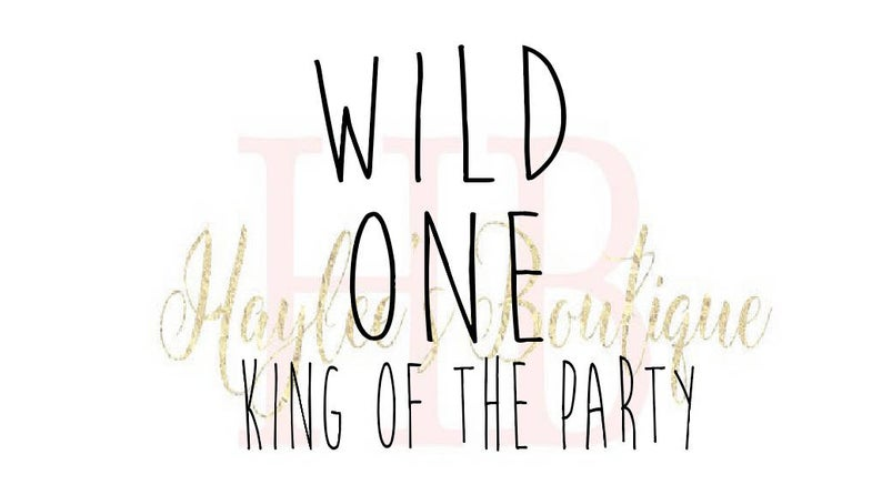 Wild One SVG  First Birthday SVG  First Birthday Outfit Boy