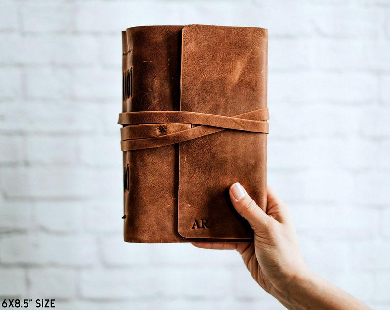 Writing Journal  Leather Journal Personalized Handbound