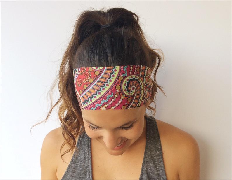Yoga Running Headband  Wild Abandon Print  Workout Headband