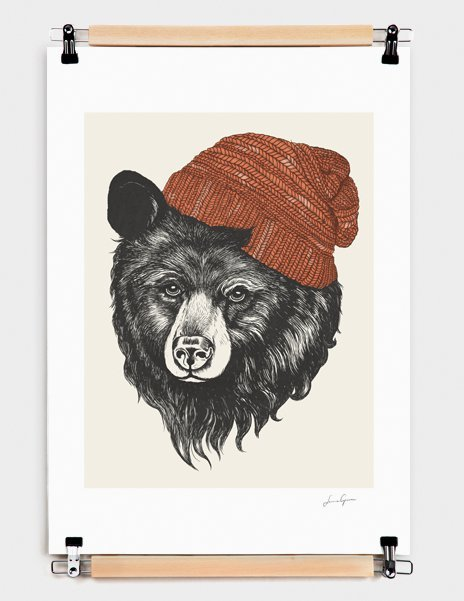Zissou the Bear – Numbered Art Print by Laura Graves from Curioos