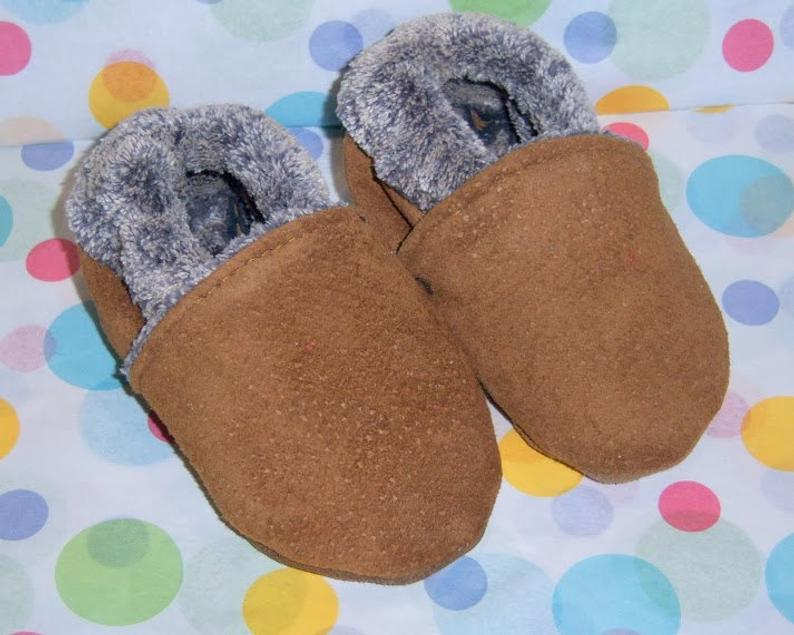 Baby mocassins baby booties warm for winter