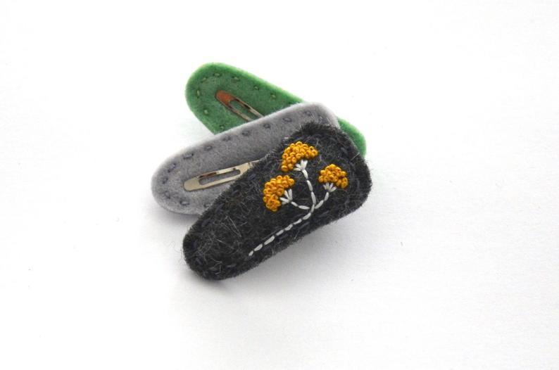 Orange floral comb for women/ Flower hair piece for bride/