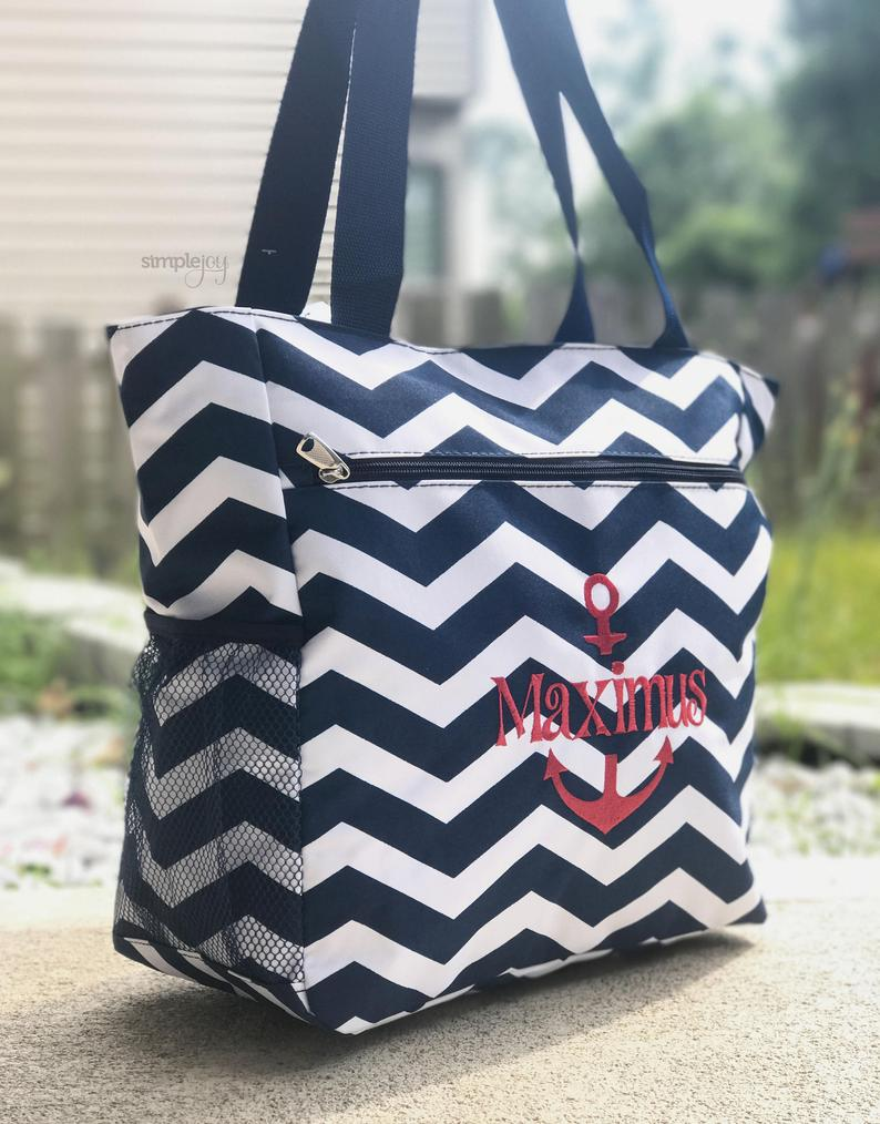 Boy Diaper Bag Navy Diaper Bag Anchor Diaper Bag Chevron