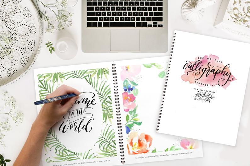 Calligraphy Starter Kit Printable Wisdom learn Calligraphy