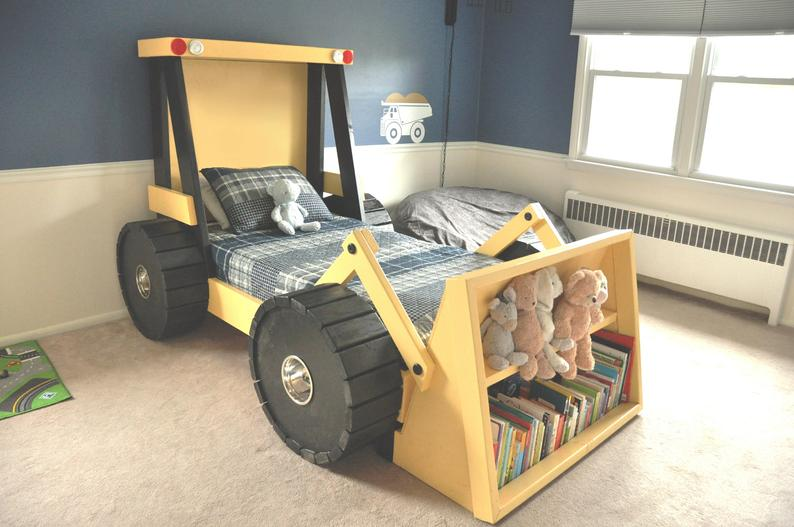 Construction Truck Bed PLANS pdf format  Twin Size  DIY