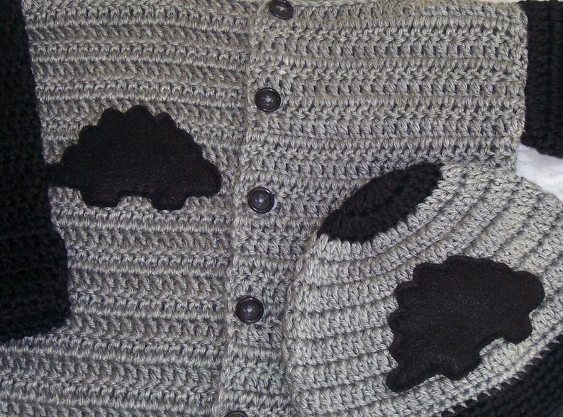 Dinosaur Sweater Crochet Sweater Crochet Dinosaur Sweater