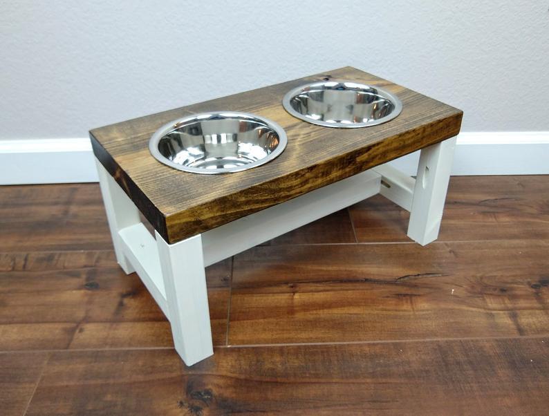 Dog Bowl Stand  Medium  The Original Farmhouse Dog Feeder