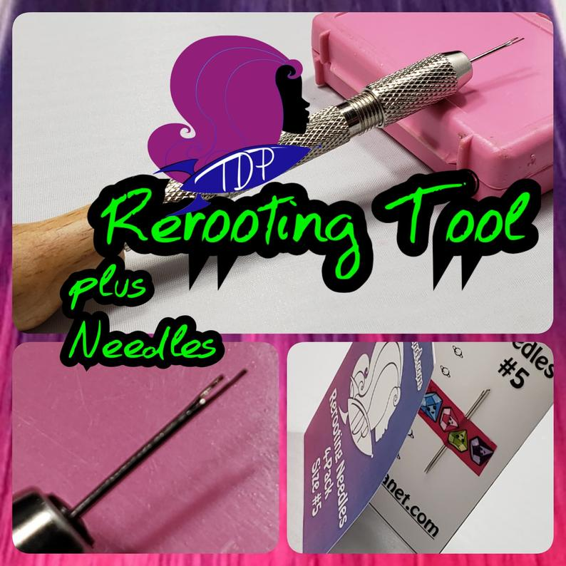 Doll Hair Rerooting Tool Kit with Rerooting Needles for