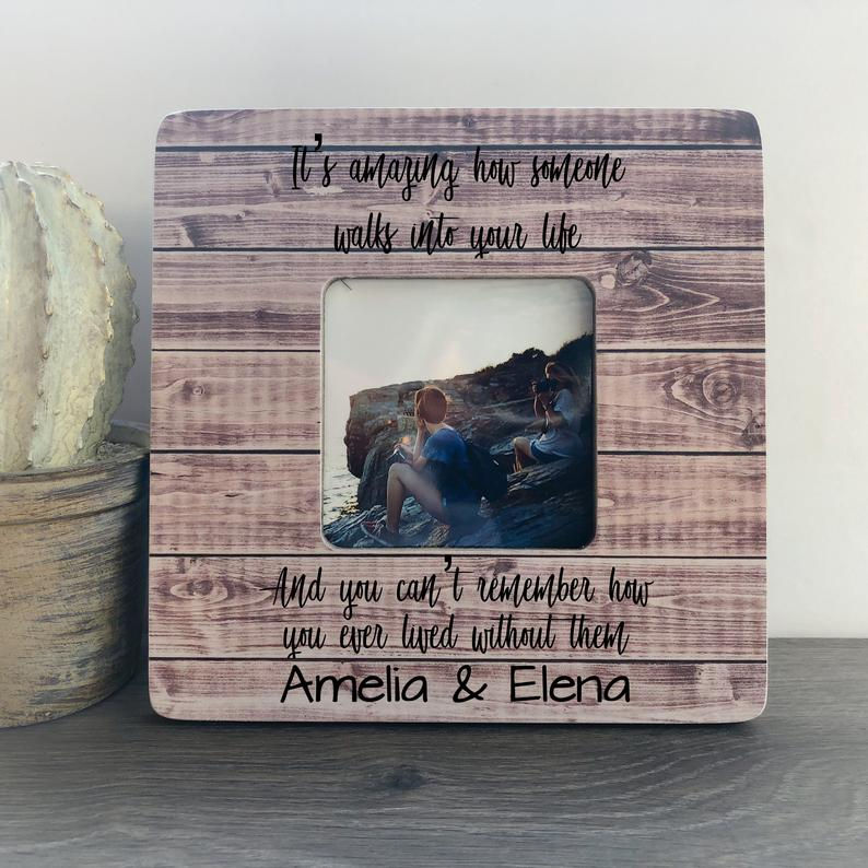 Friendship Frame Frame Long Distance Gift Personalized Picture