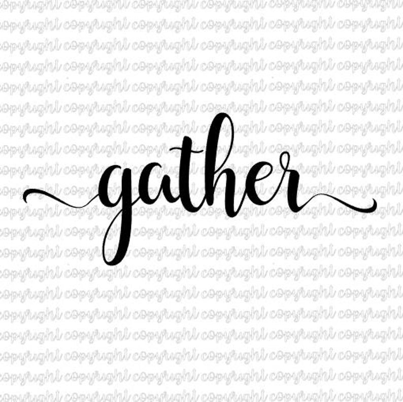 Gather SVG DXF file  cut file  silhouette  cameo  cricut