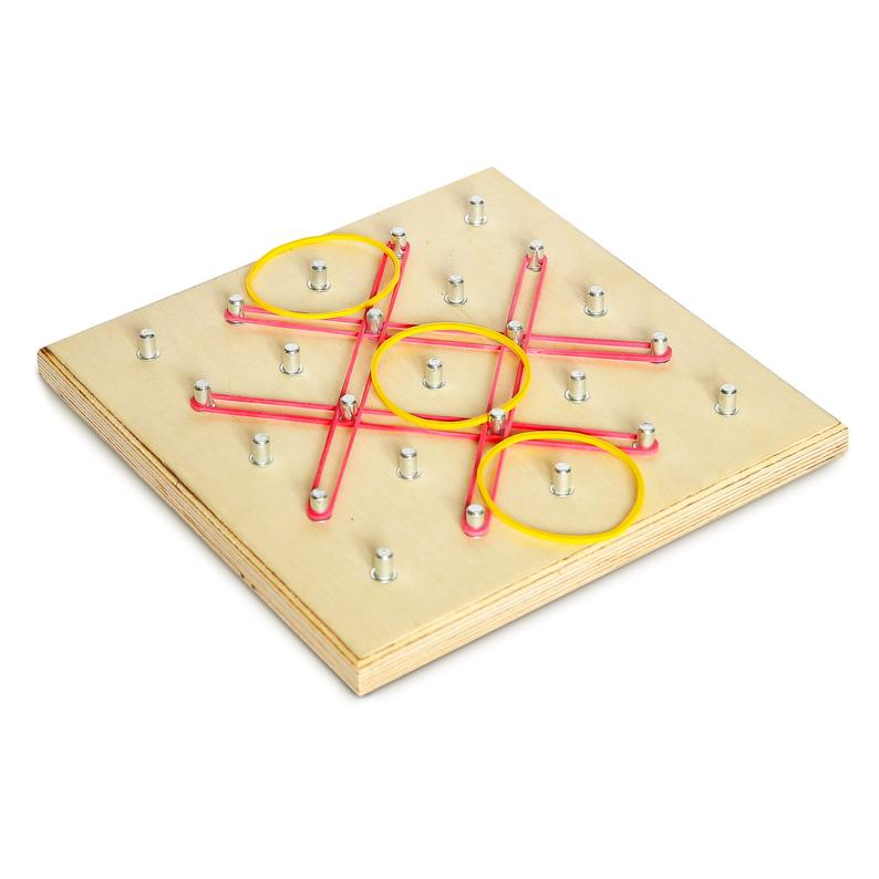 Geoboard 5×5 geoboard Montessori Toddler Toys Very Natural