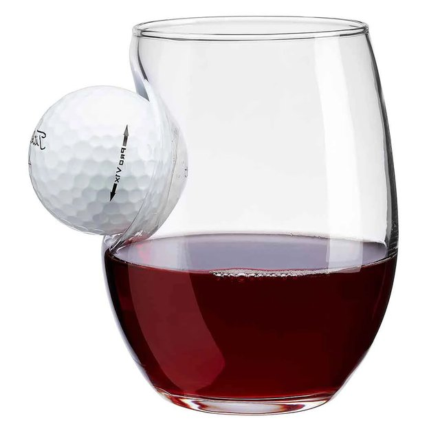 Golf Ball Wine Glass