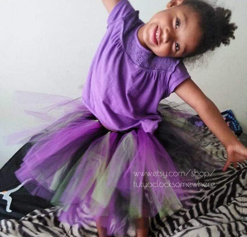Halloween Tutu Witch Black Lime Green Purple First Birthday