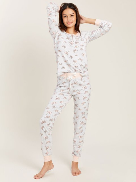 Kaia PJ Set in Dancing Bows