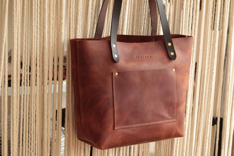 Large leather tote bag Leather tote Tote bag leather Tote