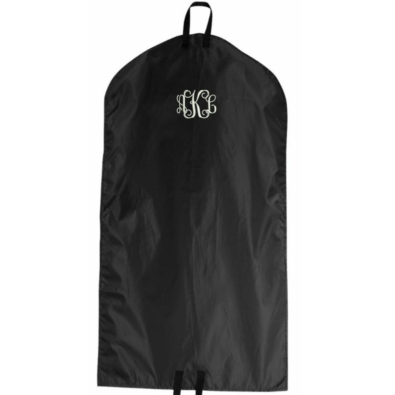 Monogrammed Garment Bag  Embroidered. Personalized Travel