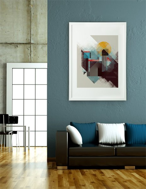 Over Mountains, Fine Art Print by Design Kitchen