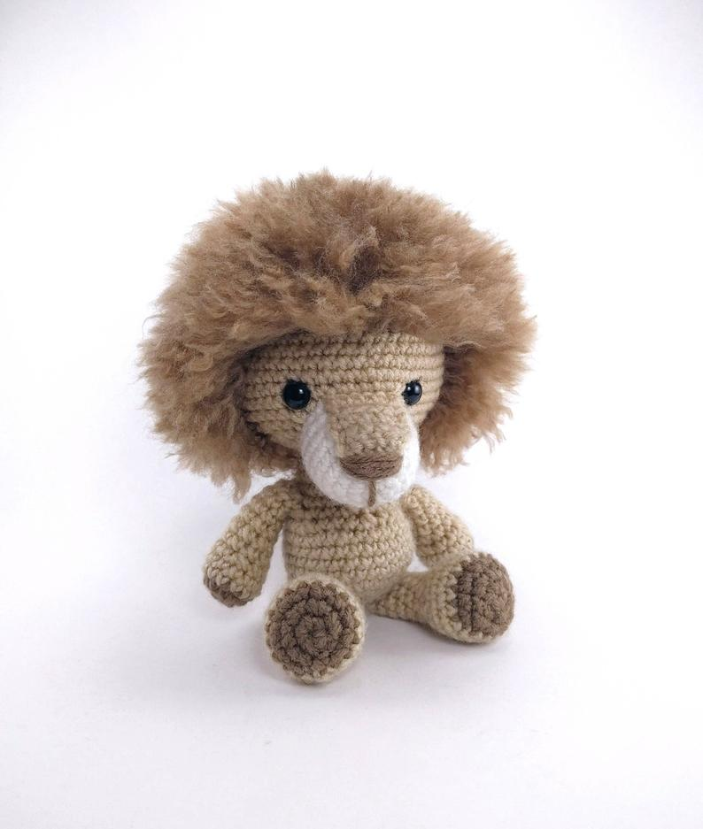 PATTERN: Lewis the Lion  Crochet lion pattern  amigurumi