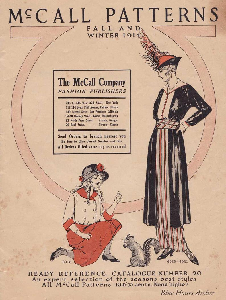 PDF Reproduction  1914 Fall-Winter McCall Pattern Catalog
