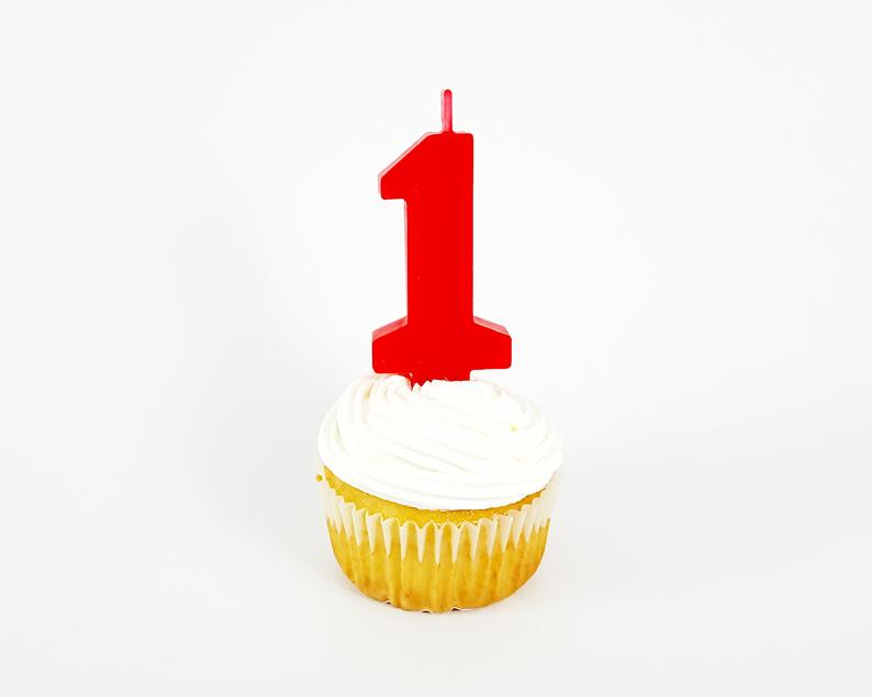 Red Birthday Number Candle