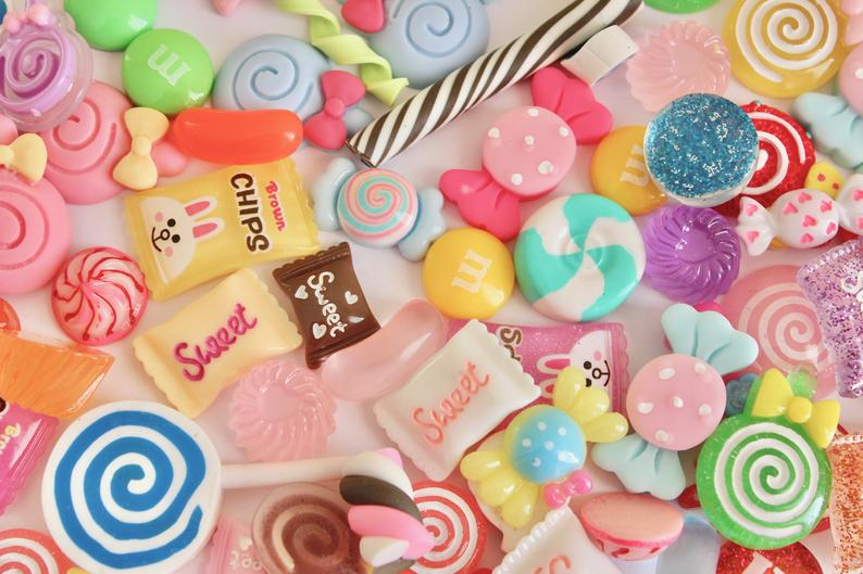 Resin Mixed Candy SLIME charms fluffy slime slime supplies