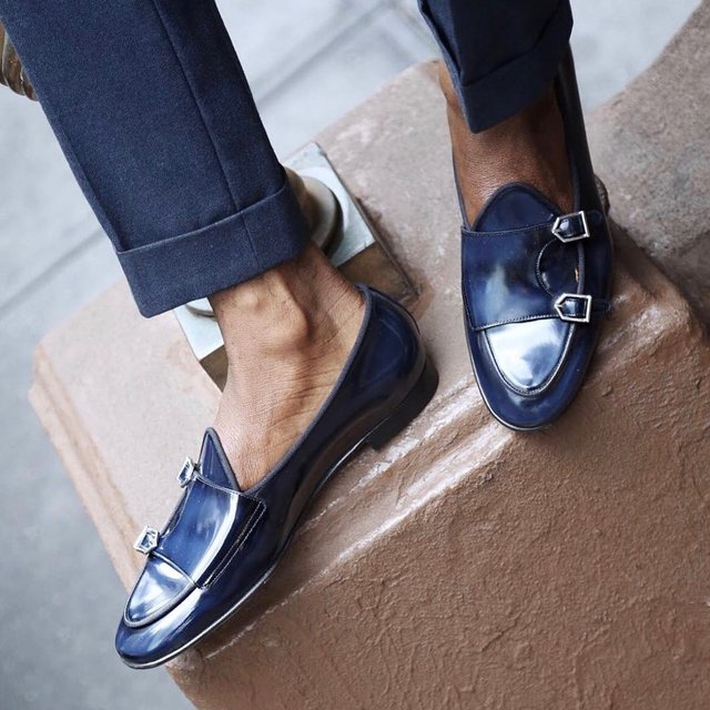 Tangerine 7 Brushed Navy Belgian Loafers
