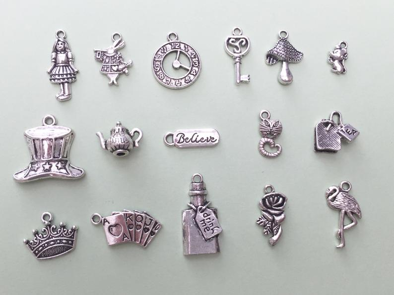 The Ultimate Alice in Wonderland Charm Collection Antique