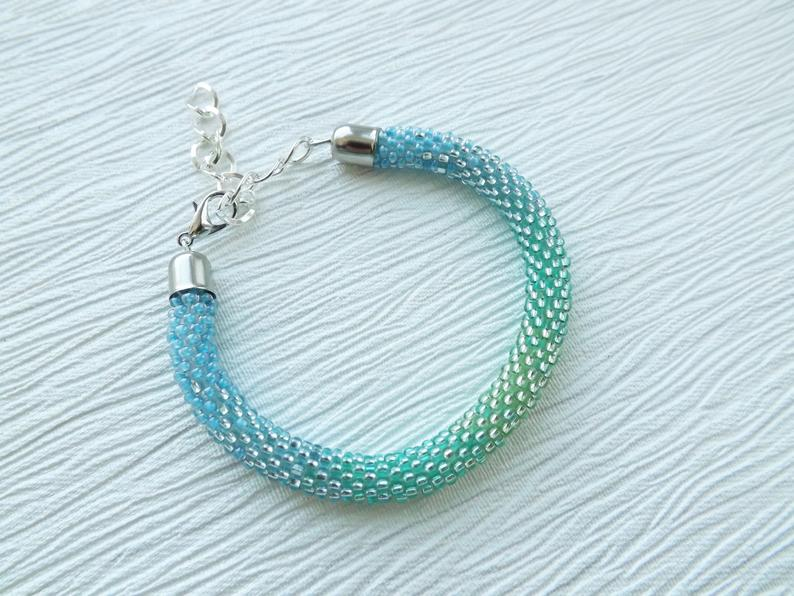 Turquoise Bracelet Beaded Bracelet Blue Bracelet Statement
