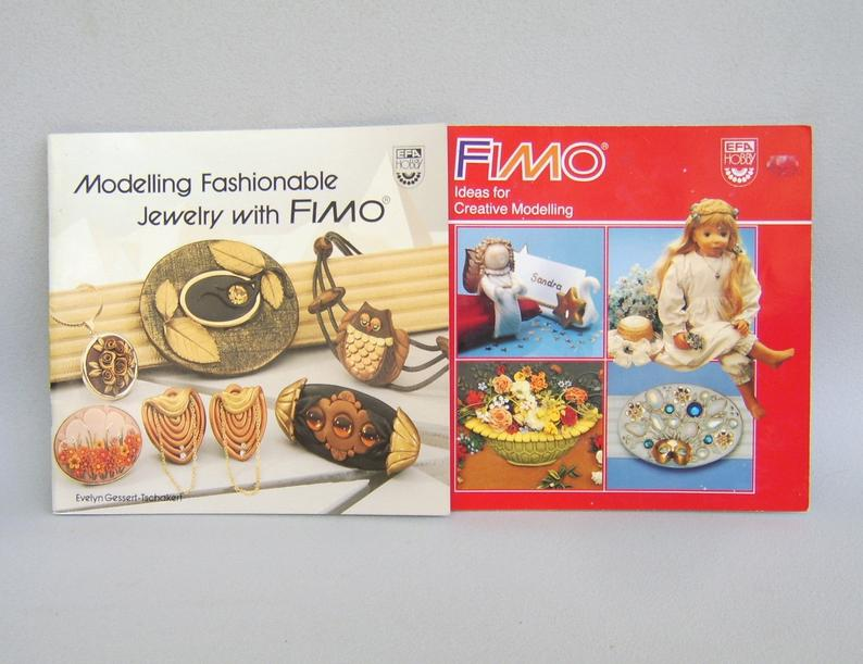 Vintage Fimo Polymer Clay Book Lot Jewelry Sculpture