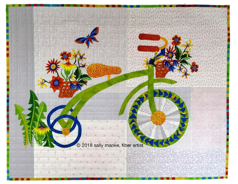 Whimsical Trike Art Quilt Pattern 36 X 28 Tricycle