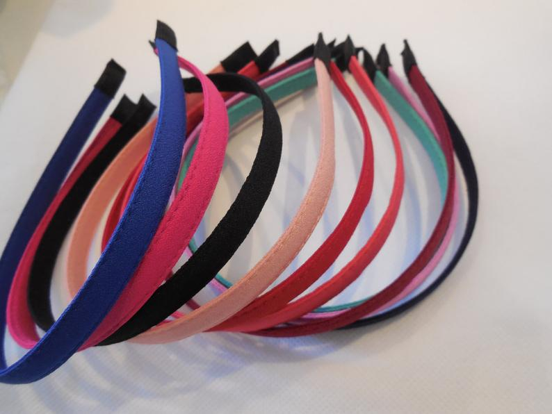 Women Plain Alice band headband fabric wrapped hair head band