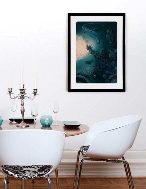 fish, Fine Art Print by Tatiana Kazakova