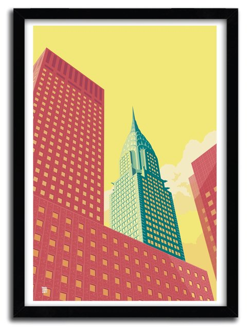 CHRYSLER BUILDING  Art Print by REMKO HEEMSKERK